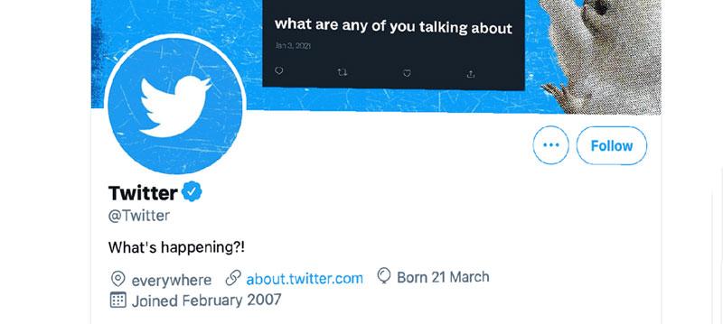 Cuenta oficial de Twitter